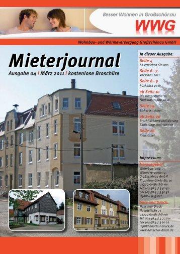 Mieterjournal Ausgabe 04 | März 2011 - und Wärmeversorgung ...