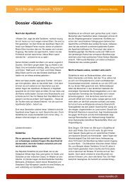 Dossier «Südafrika» - Katharina Morello