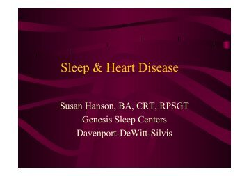 Sleep & Heart Disease - Genesis Health System