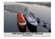 LNG terminal project in Lithuania