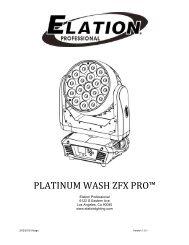 Platinum Wash ZFX Pro User Manual 1.2 - Elation Professional