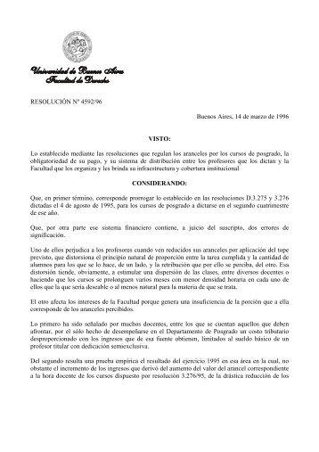Resoluciones de liquidación de honorarios docentes en los cursos ...