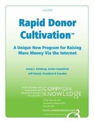 Rapid Donor Cultivation - DMA Nonprofit Federation