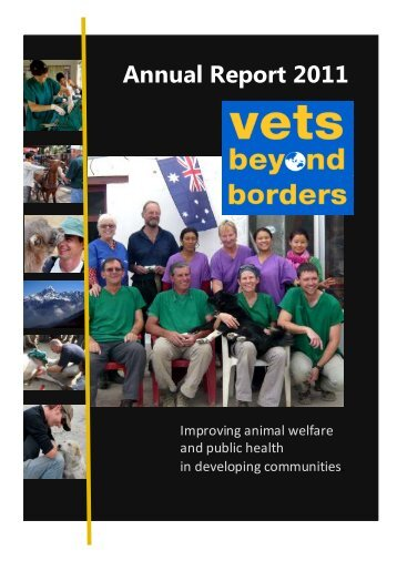 Annual Report 2011 - Vets Beyond Borders