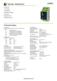 E3ZM20 Zeitrelais - Multifunktion Technische Daten