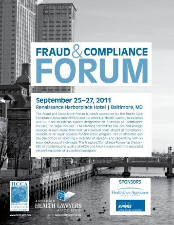 September 25–27, 2011 - American Health Lawyers Association