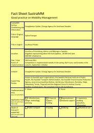 Fact Sheet SustraMM - Energikontor Sydost