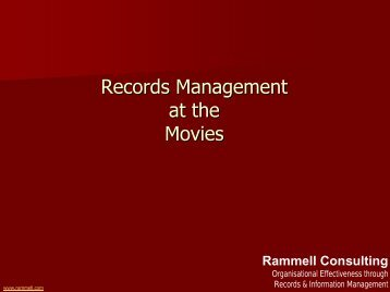 Records Management at the Movies - Records and Information ...