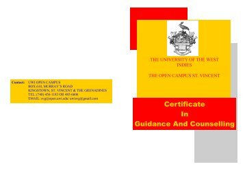 Certificate In Guidance And Counselling - Open Campus - Uwi.edu