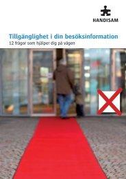 Tillgänglighet i din besöksinformation - Visita