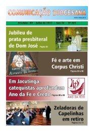 Erechim - RS – Julho de 2013 – Ano 36 – Nº 405 - Diocese de Erexim