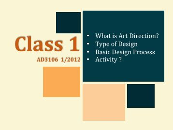 - What is Art Direction? - Type of Design - Basic Design Process ...