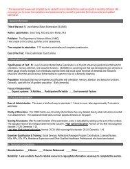 St. Louis Mental Status Examination (SLUMS)