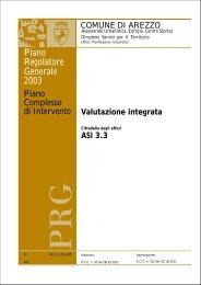 Valutazione integrata - Comune di Arezzo