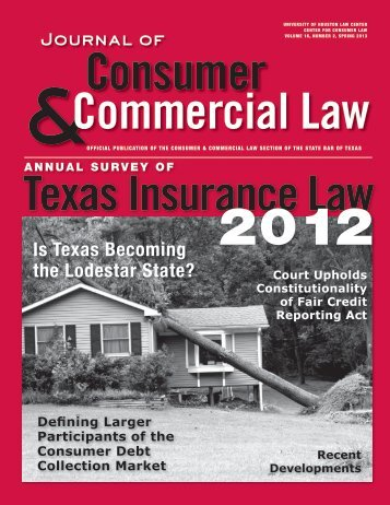 Is Texas Becoming the Lodestar State? - Consumer Law Section ...