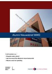 Alumni Nieuwsbrief MWD - Hogeschool van Arnhem en Nijmegen