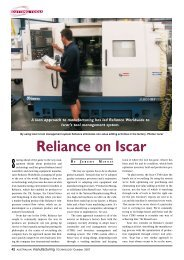 Reliance on iscar - Iscar Ltd.