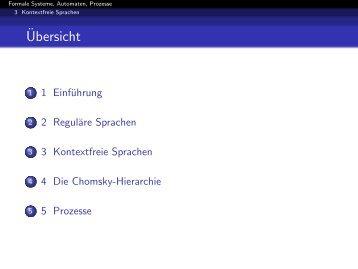 Kontextfreie Sprachen und Grammatiken