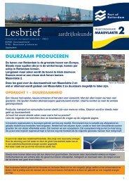 onderbouw vmbo aardrijkskunde les02 duurzaam ... - Maasvlakte 2