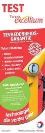 TEVREDENHEIDS- GARANTIE - total raffinage marketing