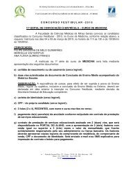 CONCURSOVESTIBULAR - 2 0 1 0 11º EDITAL DE CONVOCAÇÃO ...