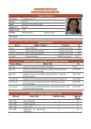 Assoc. Prof. Dr. Ummuhan Aslan - International Conference on New ...