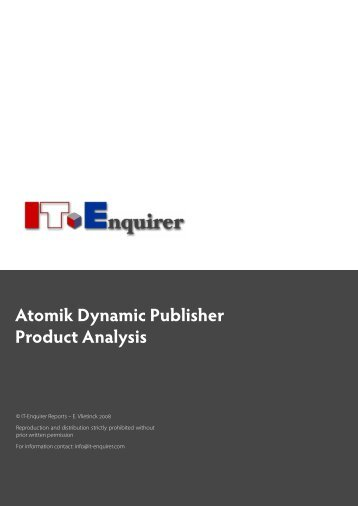 download the analysis of Atomik Dynamic Publisher - IT Enquirer