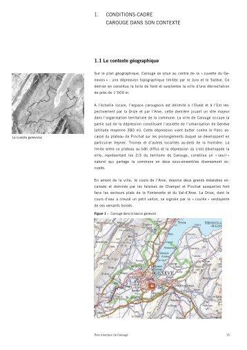1. conditions-cadre carouge dans son contexte - Etat de Genève