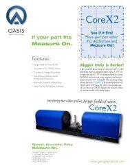 OASIS CoreX2 Tech Sheet - Team-Logic