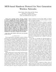 MOS-based Handover Protocol for Next Generation Wireless Networks