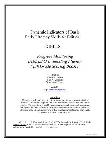 Dibels Oral Reading 55
