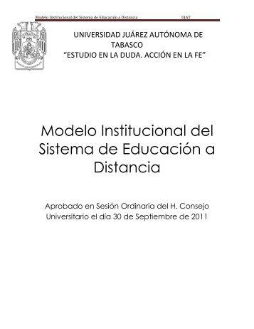 Modelo Institucional del Sistema de Educación a Distancia