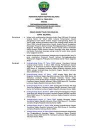 salinan peraturan daerah kabupaten bulungan nomor 14 ... - Bphn