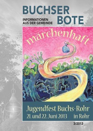 Ausgabe_3_2013 [PDF, 3.00 MB] - Gemeinde Buchs