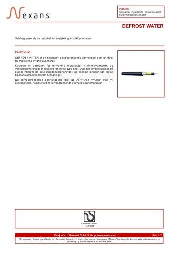 Datablad / PDF - Nexans