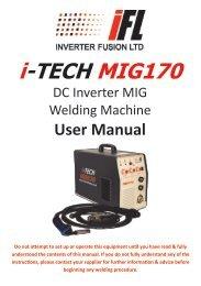 Download i-TECH MIG170 User Manual - Inverter Fusion Ltd