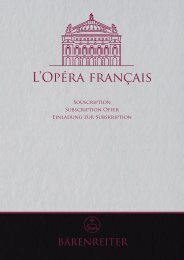 L'Opéra français - Bärenreiter Verlag