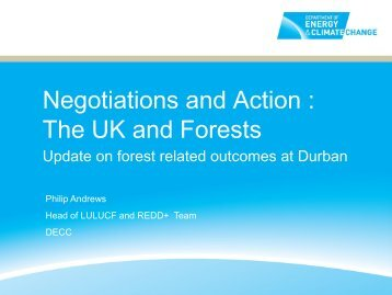 Negotiations and Action : The UK and Forests - Illegal Logging Portal