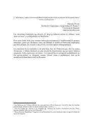 L'aroumain : aspects ethnographiques réfléchis dans un dialecte ...