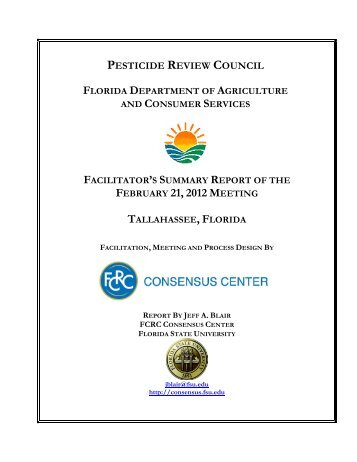 PRC February 21, 2012 Report - Florida State University