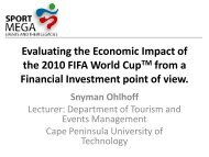Evaluating the Economic Impact of the 2010 FIFA World Cup from a ...