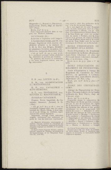 (2), Duvernoy, rapporteur. Paris, Imp. de Bache - Centre de ...