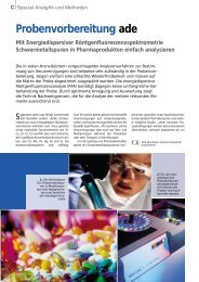 Probenvorbereitung ade - Analytics
