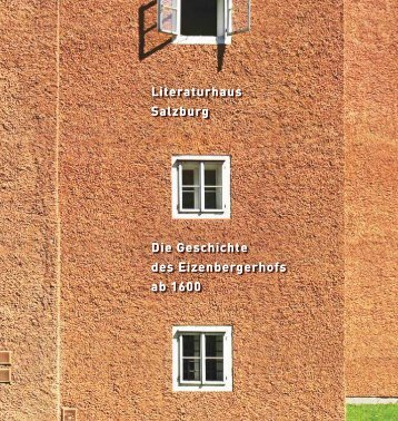Die Geschichte des Eizenbergerhofs ab 1600 Die Geschichte des ...