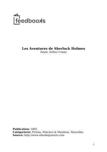 Les Aventures de Sherlock Holmes - Lecteurs.com