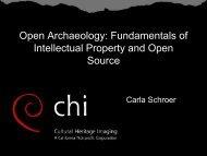 Download workshop slides - Cultural Heritage Imaging