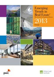 Emerging Trends in Real Estate® Europe 2013 - PwC