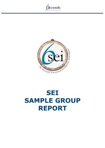 SEI SAMPLE GROUP REPORT - Six Seconds