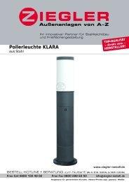 Pollerleuchte KLARA - Ziegler