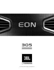 EON 305 English User Guide - JBL Professional